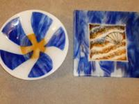 THIS IS FOR 2 FUSED GLASS ITEMS both for $115.00