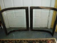 This is a set of 4 original horse drawn hearse windows,