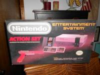 Have the original Nintendo box for sale.Still has vivid
