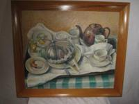 The Breakfast Tray 1943 Original Oil Painting Nebraska