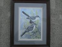 "Mocking Birds by Karl Baker a local artist . 13""x16"""
