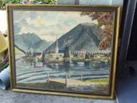 "Painted by German artist ""H Wirth"" in 1952 for my"