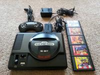 Original Sega Genesis with 5 games. Overall stock