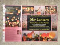 THE ORIGINAL SKY LANTERNS, GREEN, RED & WHITE &
