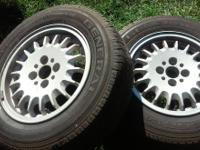 4 Original steel 4 lug BMW Rims. Bolt pattern 4x100mm.