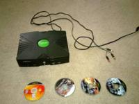 Original XBOX for sale. Comes with games, unfortunately