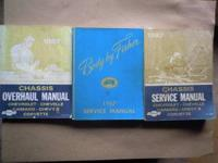 ORIGINAL FACTORY MANUALS ==1967 CHEVROLET PASSENGER ALL