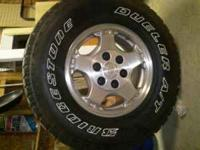 ORIGINAL FACTORY CHEVROLET 1500 TIRES AND WHEELS- Set