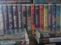 Original Disney VHS tapes in orignial cases. Asking $25