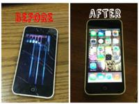 Damaged and smashed LCD/Glass screen Repair, likewise