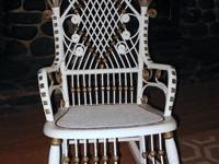 Beautiful antique victorian wicker rocking chair