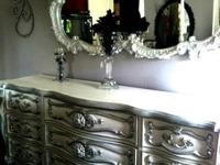 This beautiful piece has nine dovetail drawers and has