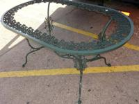 ornate iron outdoor patio table - this is the table