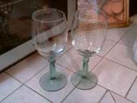 I have 2 wine glasses, pictured below. both are in