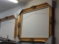 Gorgeous Antique Gold Ornate Solid Wood Frames.