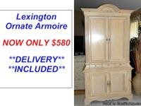 Ornate Wood Armoire By Lexington Furniture Here