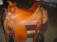 Ortho Flex Saddle with a saddle pad with the built up