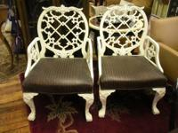 TREASURES ID #16769  Two chairs made by Century. These