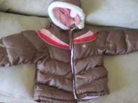 Brown Osh Kosh coat, comes with a little skinny pink