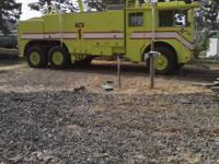 This 3 axle used ARFF vehicle can be used in
