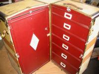 Travel/Steamer Trunk made by Oshkosh, Wisconsin Trunk