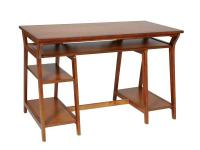 The 47 in. computer desk with real wood solids and