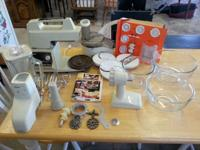 Oster 12 speed kitchen area center with extras. Has the
