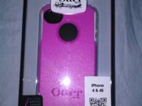 Unopened Otter Box Commuter Pink and White  Breast