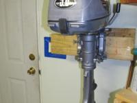 5HP, Johnson 2000, standard shaft, 2 stroke, like new