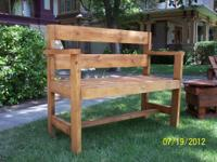 I have an outdoor bench. Good for the porch, garden,
