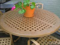 High end outdoor table/4 chairs.  MiYu