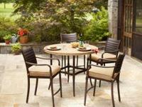 We have outdoor furniture at prices far below retail.