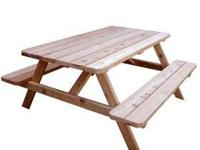 Picnic Tables Heavy Duty Contruction Made of Fir 2X6