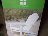 Brand new white wood adirondack chair. This will need