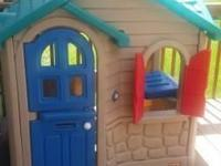 Little tikes playhouse $180 Slide & climber $50 Wood