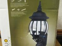 PORTFOLIO OUTDOOR CONVERTIBLE 3 IN 1 LANTERN BLACK