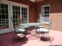5 pc Patio Set constructed of high end Wrought Iron