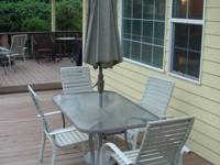 Outdoor patio furniture set for sale.  Large table,