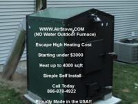 WE OFFER YOU THREE MODELS OF OUTDOOR WOOD FURNACE ,