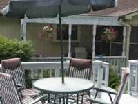 Three year old outdoor patio set purchased from