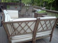 Very nice outdoor patio lounge set. Very sturdy, rust