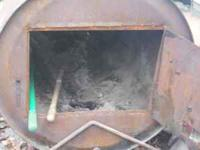 Outdoor wood furnace ready to use some pipe included