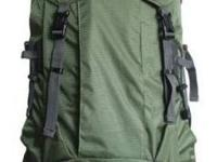 Adjustable sternum strap helps stabilize the pack,