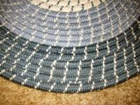 Oval Braided Rug, 2.5' x 4'.  Leave a cell, residence