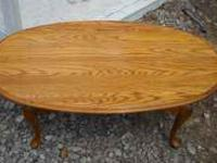 solid wood oval coffee table great shape divorce thing