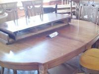 "Oval Dining Table 8 chairs and 2 leaves  table:  69"" L"