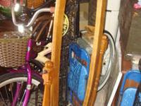 Nice wood frame mirror that swivels on a stand It is