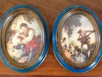 These matching oval reproductions of Romantic