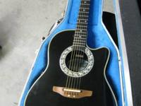 NICE USED OVATION ELECTRIC/ACOUSTIC GUITAR. WONDERFUL