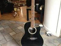 Celebrity ovation acoustic / electric guitar model